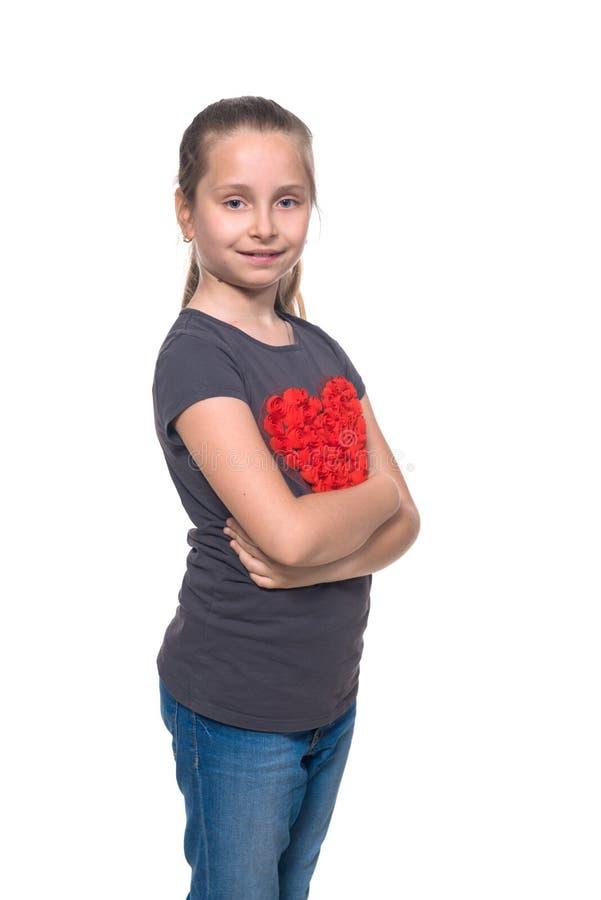 Beautiful school girl royalty free stock photos