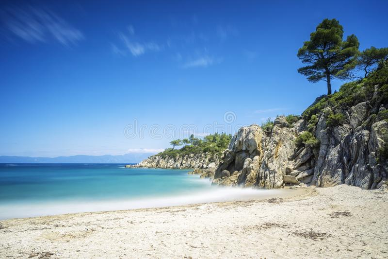 Beautiful sea and beach royalty free stock images