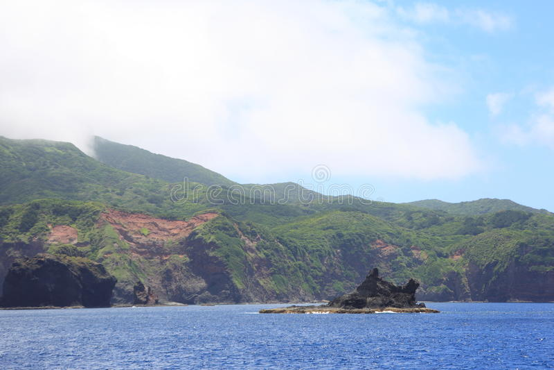 Beautiful sea of Chichijima Island stock image
