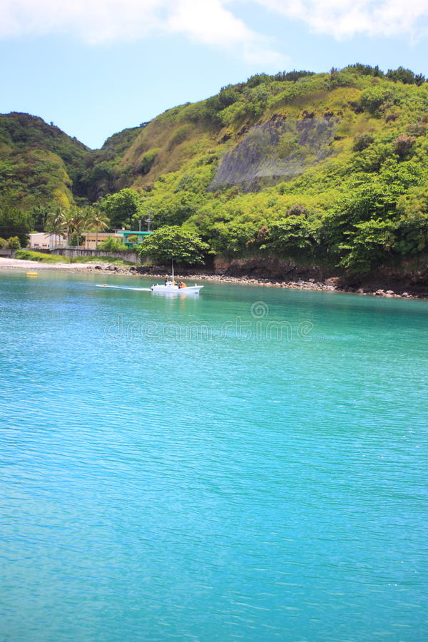 Beautiful sea of Chichijima Island. Ogasawara, JAPAN royalty free stock photography