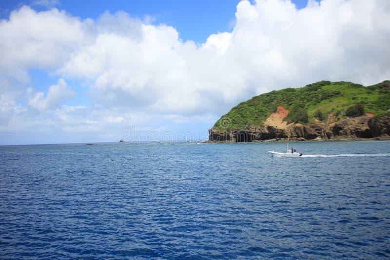 Beautiful sea of Chichijima Island royalty free stock photos
