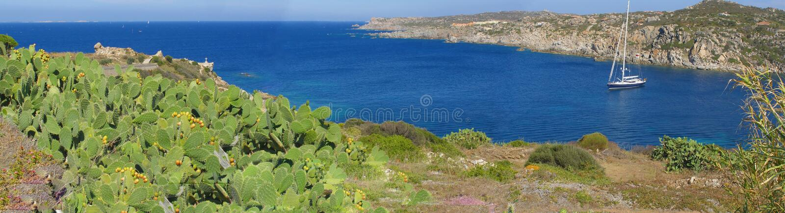 Beautiful sea cove panorama, Sardinia - Italy royalty free stock image