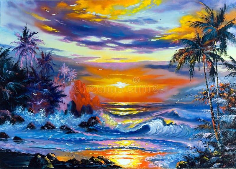 Beautiful sea landscape vector illustration