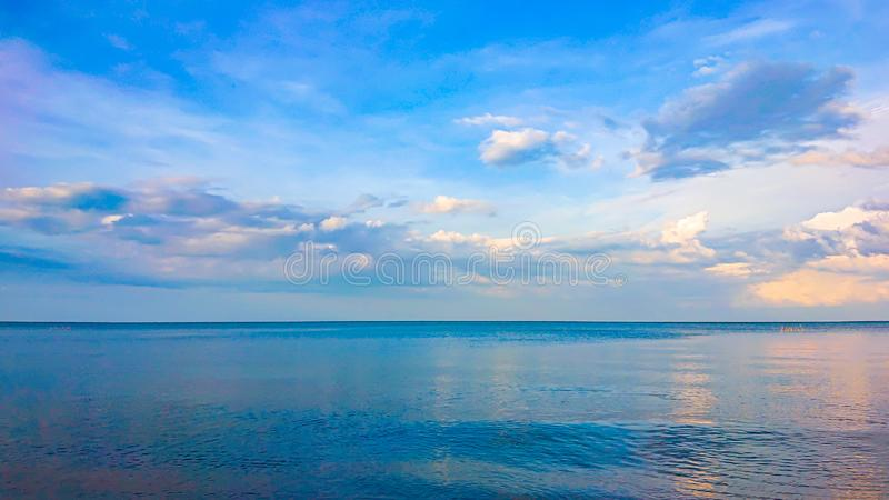 Beautiful sea landscape in morning Thailand.Horizontal sea with sky background.Sea view royalty free stock image