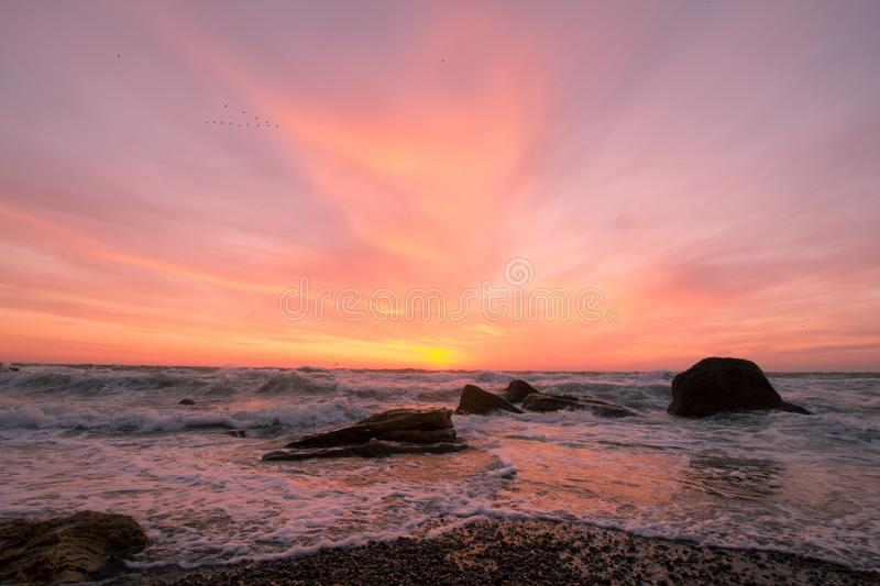 Beautiful sea landscape in morning royalty free stock images