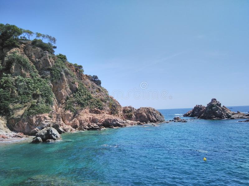 A beautiful sea landscape in Catalonia stock image