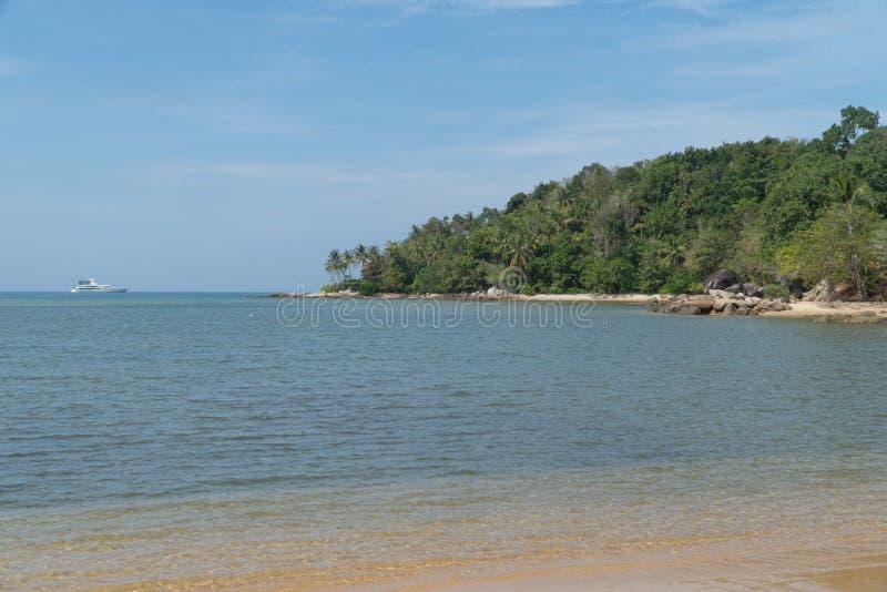 Beautiful sea sand wave and wonderful beaches. In tropical andaman sea at the Phuket, Thailand royalty free stock image