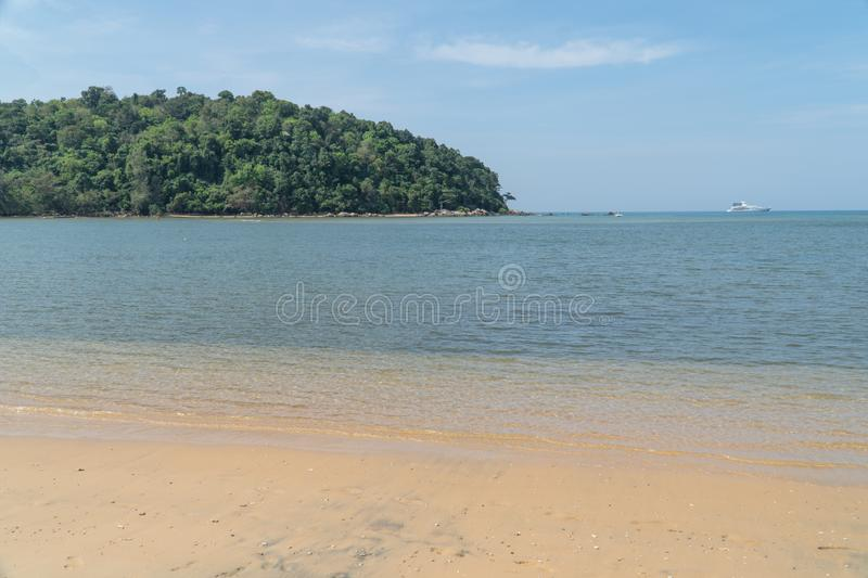 Beautiful sea sand wave and wonderful beaches. In tropical andaman sea at the Phuket, Thailand royalty free stock photography