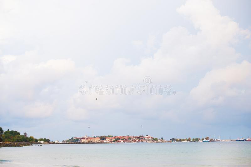Beautiful sea and sandy beaches of Nessebar. Beautiful sea and sandy beaches of Bulgaria, Nessebar stock photography