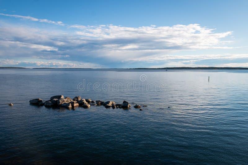 Beautiful sea sight of the Gulf of Bothnia royalty free stock photography