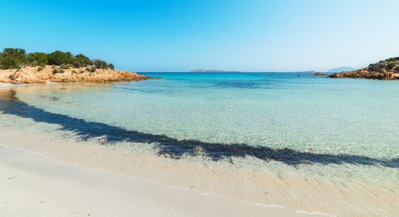 Beautiful sea in Spiaggia del Principe. In Costa Smeralda, Sardinia stock photography