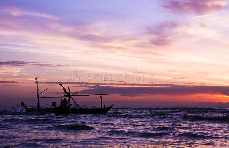 Download Beautiful Sea Sunrise And Ship. Stock Photo - Image: 33785006