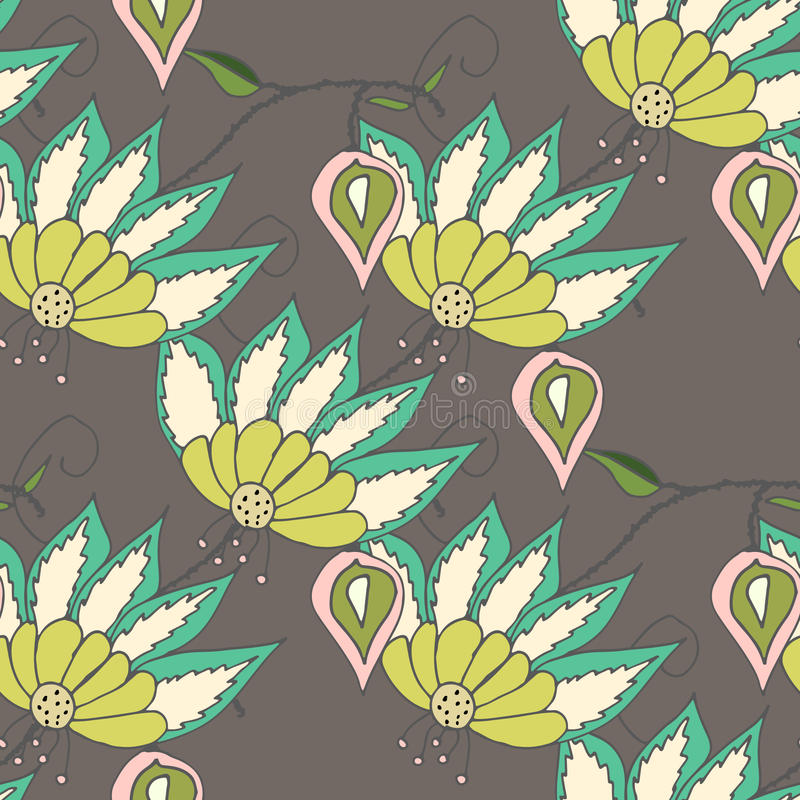 Beautiful seamles floral pattern stock illustration
