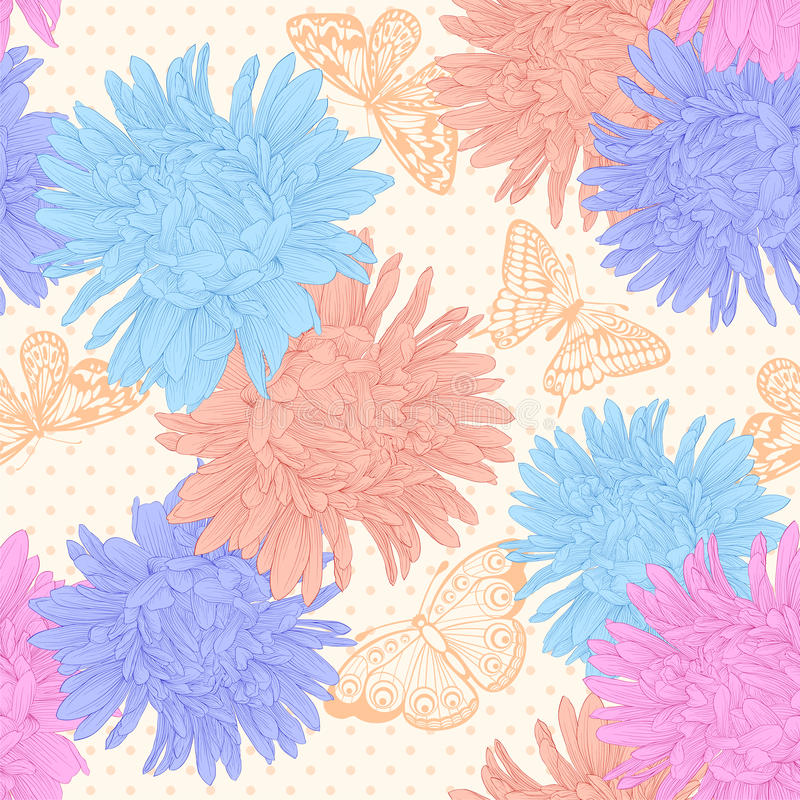 Free Beautiful Seamless Background With Bouquet Flowers. Royalty Free Stock Images - 43147519