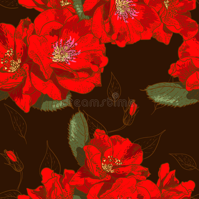 Download Beautiful Seamless Floral Pattern Stock Vector - Illustration: 31743441