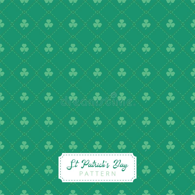 Beautiful seamless and modern st patricks day pattern royalty free stock photos