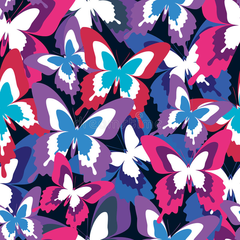 Download Beautiful Seamless Pattern With Colorful Butterflies Stock Vector    Illustration Of Fashion, Decorating:
