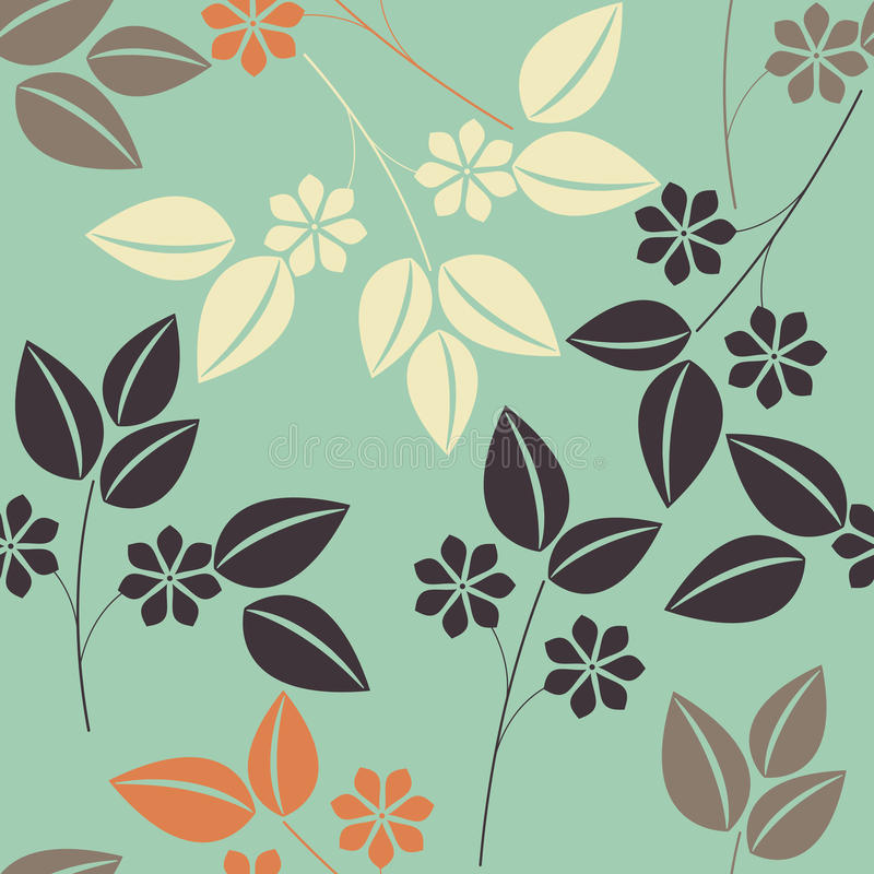 Beautiful seamless pattern with colorful floral bouquet vector illustration