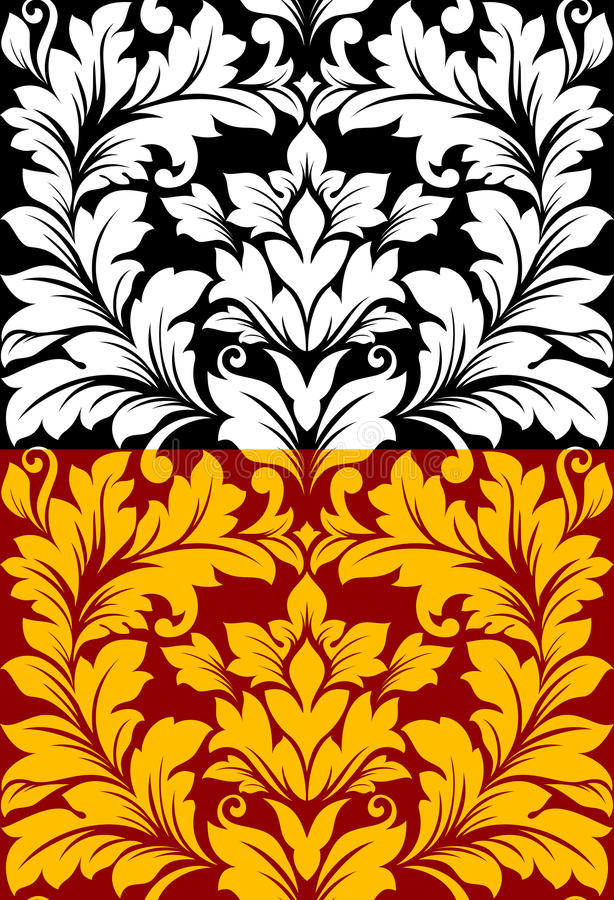 Download Beautiful Seamless Pattern In Retro Damask Floral Stock Vector - Image: 31654698