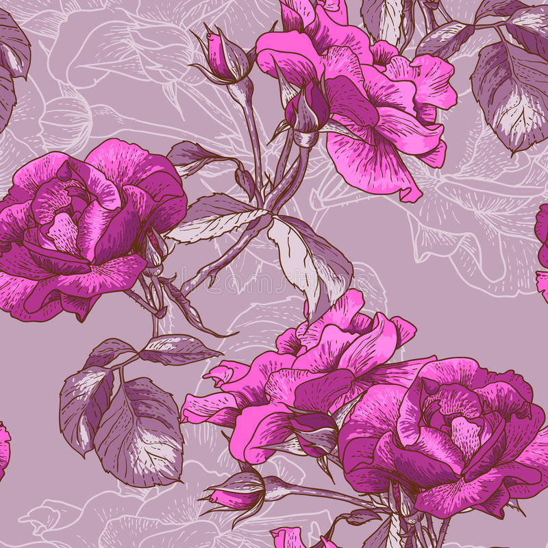 Download Beautiful Seamless Rose Background Stock Vector - Image: 31624374