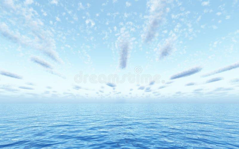 Beautiful seascape royalty free illustration