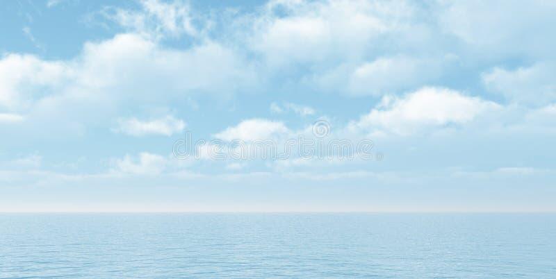 Beautiful seascape stock illustration