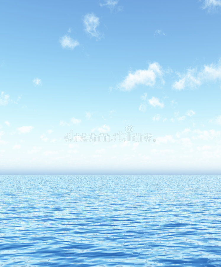 Beautiful seascape vector illustration