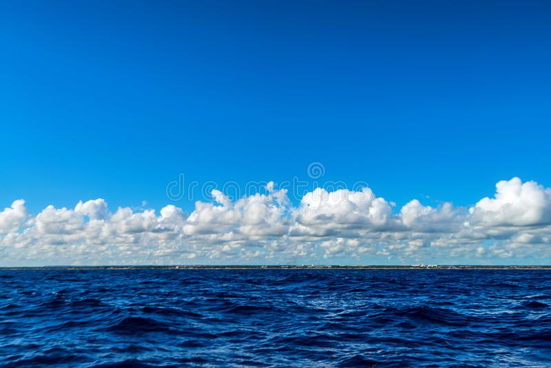 Beautiful seascape of Carribean Sea water on sunny day royalty free stock photos
