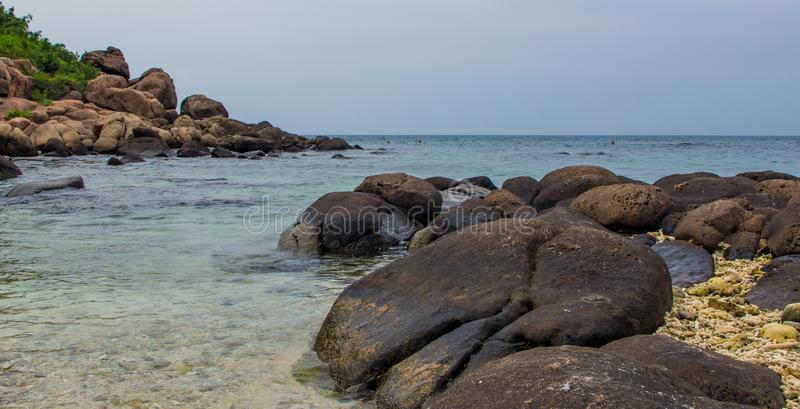 A stunning seascape in an island royalty free stock image
