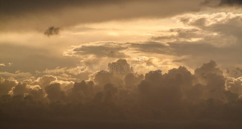 Beautiful Seascape, Orange Clouds in the Sky, Sunset. Beautiful Seascape, Orange Clouds in the Sky, Summertime Sunset stock photo