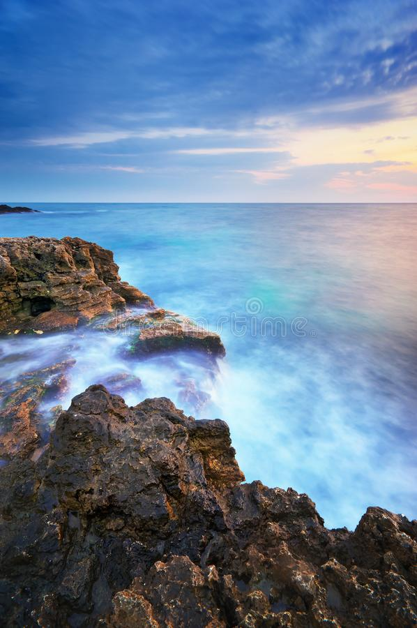 Free Beautiful Seascape Sunset. Nature Composition Royalty Free Stock Image - 104908336