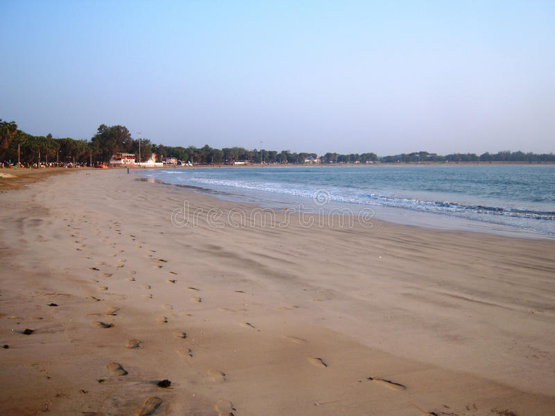 Beautiful seashore at Diu. I clicked this photo at early morning near Nagoa beach , Diu, Gujarat. This is beautiful beach with clean water. Good place to spent royalty free stock images