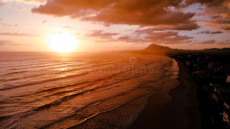 Beautiful Seaside, Spain stock photography