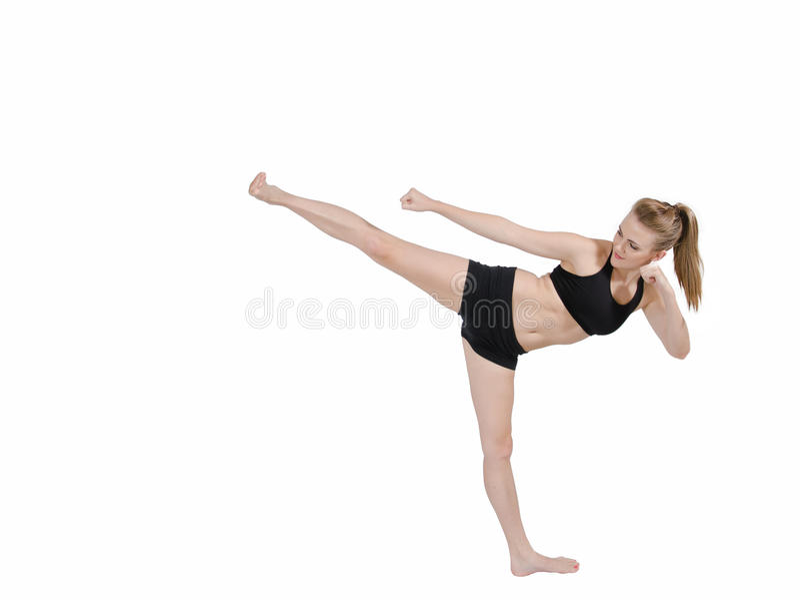 Download Beautiful Self Defence Woman Stock Image - Image: 19079963