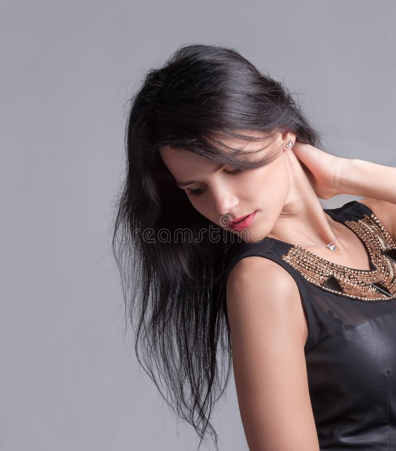 Beautiful, self- sufficient and confident young woman stock photos