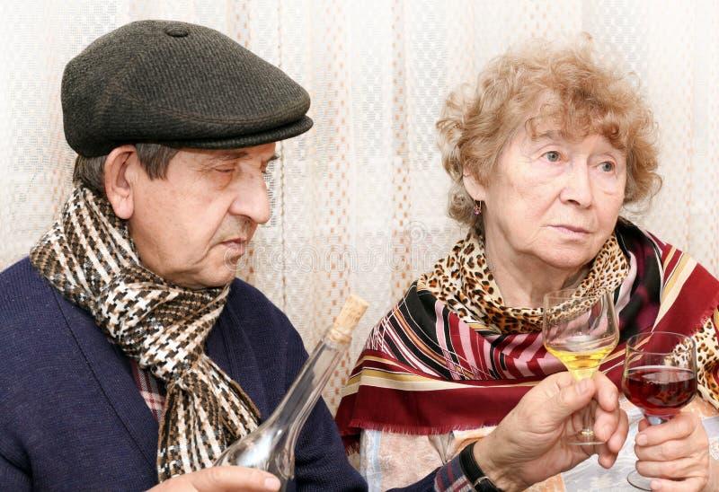Beautiful senior couple royalty free stock photography