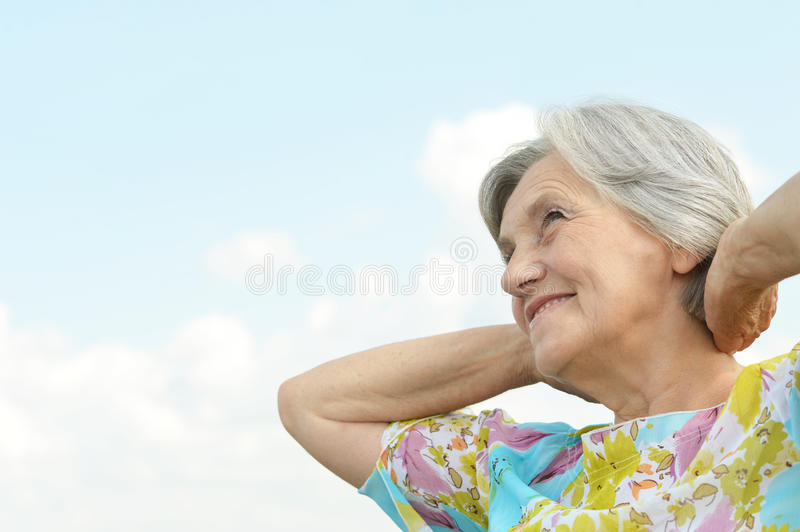 Download Beautiful senior woman stock image. Image of nice, lady - 41816855