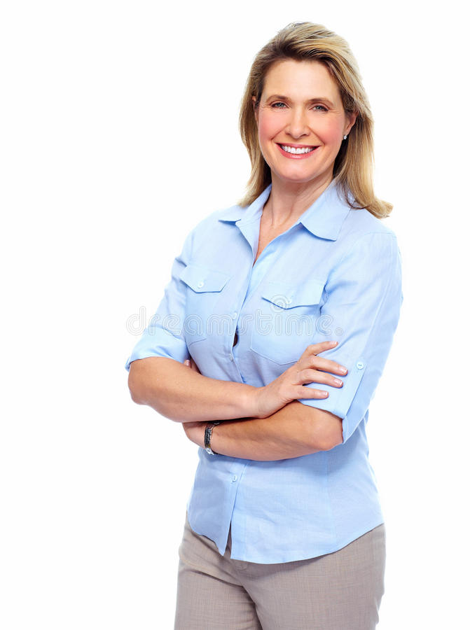 Beautiful senior woman portrait. royalty free stock images