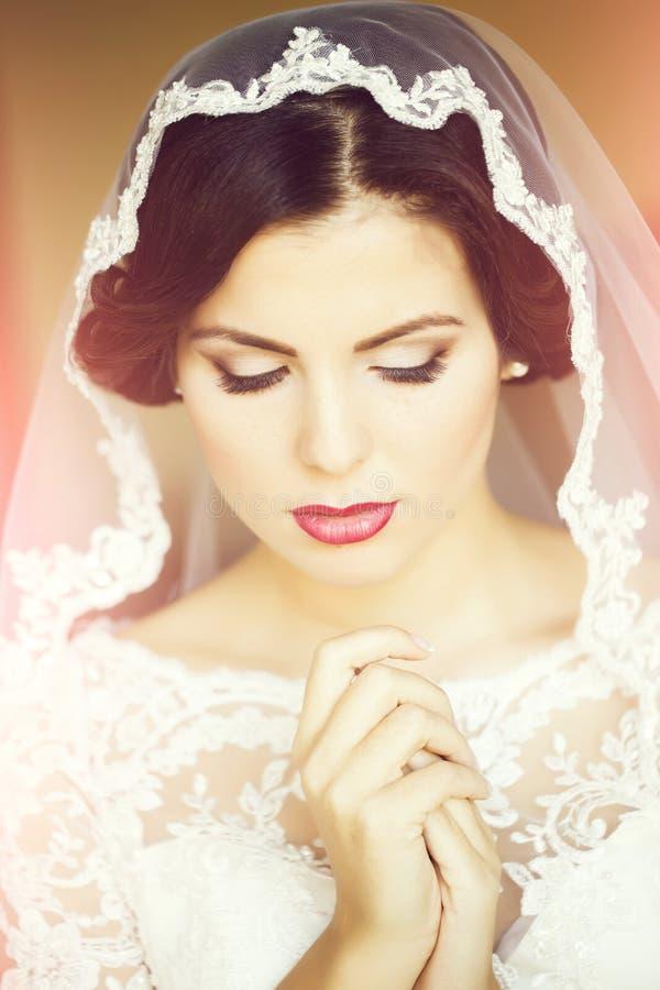 Beautiful sensual bride royalty free stock photography