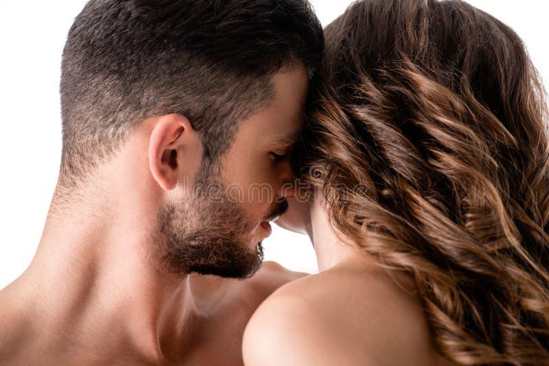 beautiful sensual couple isolated royalty free stock photo