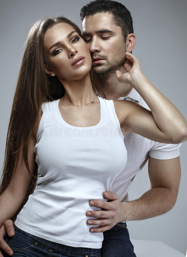 Beautiful sensual couple royalty free stock images