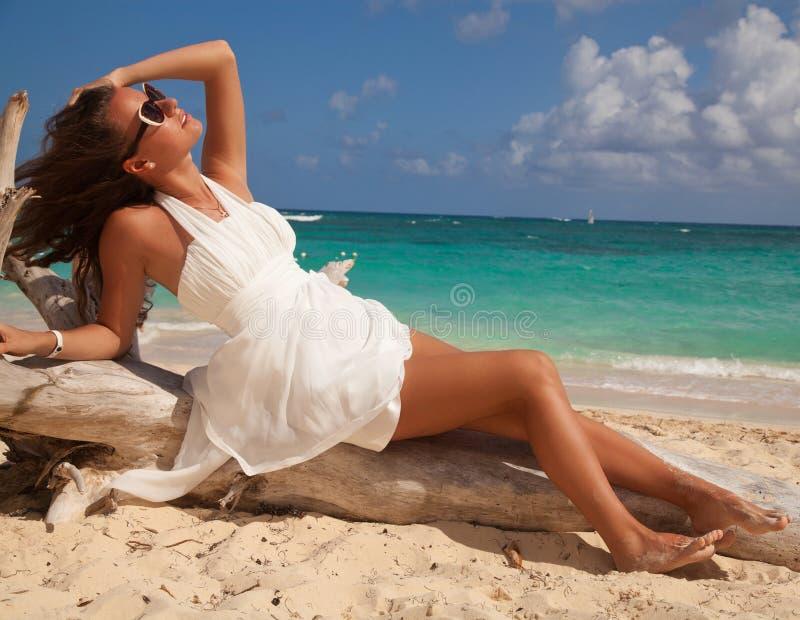 Download Beautiful Sensual Girl At Sunrise Stock Image - Image of glamour, female: 39500467