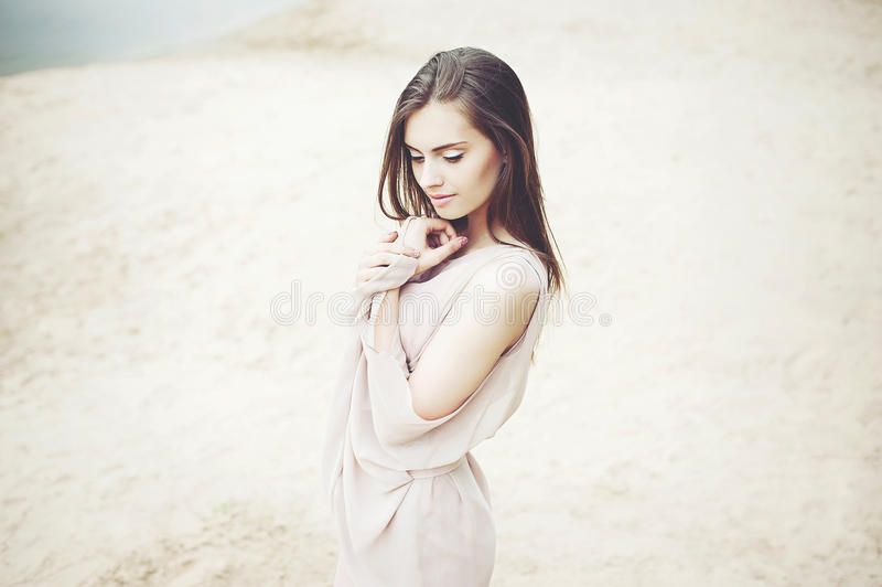 Beautiful sensual young girl portrait stock images