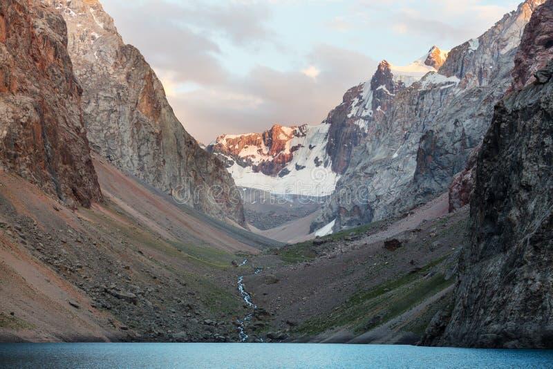 Fann mountains lake stock photo