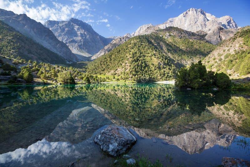 Fann mountains lake royalty free stock photography