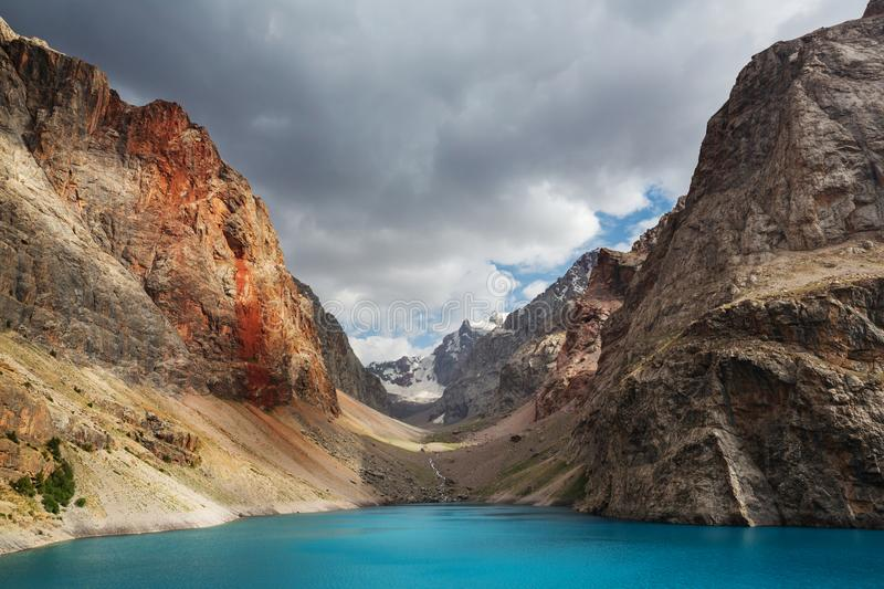 Fann mountains lake royalty free stock images