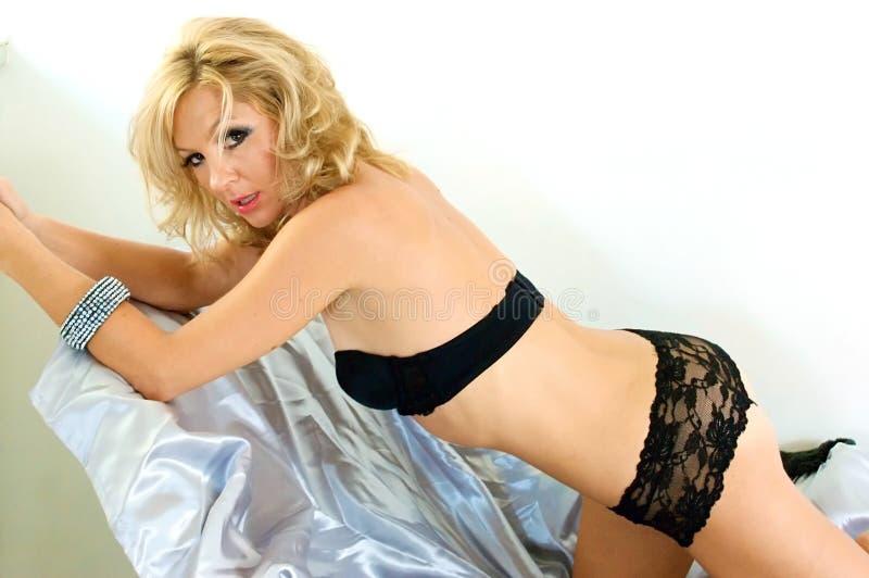 Beautiful blonde stock photo