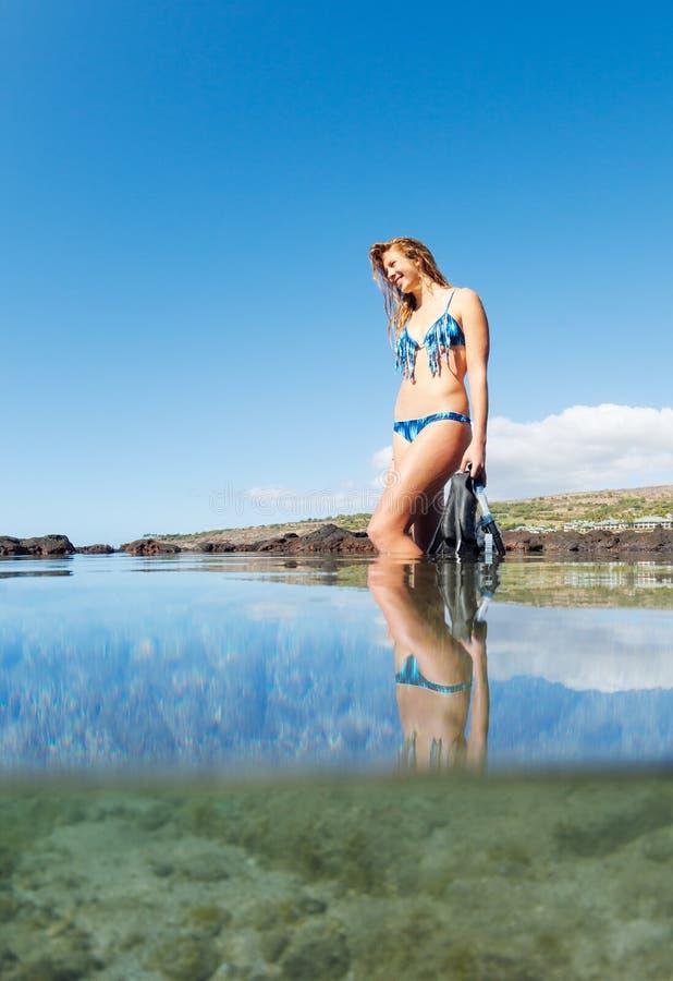 Download Beautiful Female Snorkeler stock photo. Image of snorkeler - 28630414