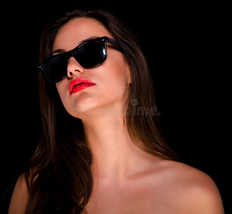 Beautiful sexy girl with sunglasses