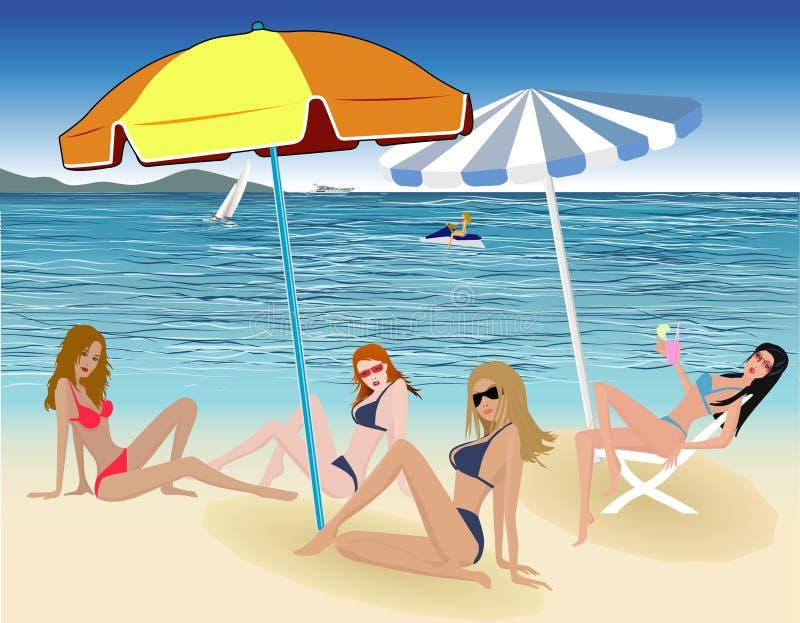 Download Beautiful girls - vector stock vector. Illustration of fashion - 2217747